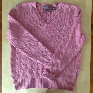 silk cable knit sweater Polo by Ralph Lauren